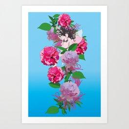 Peony & Fairy Art Print
