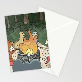 Bonfire with Friends Stationery Cards