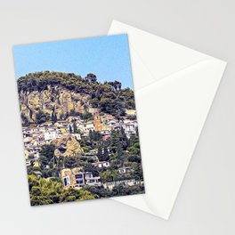 Medieval village of Roquebrune in French Riviera Stationery Cards