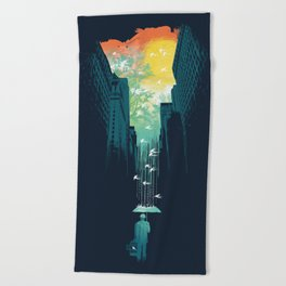 I Want My Blue Sky Beach Towel