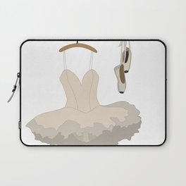 Ballerina dress and pointe shoes pattern Laptop Sleeve