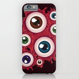 Spooky halloween bloody eyeballs iPhone Case