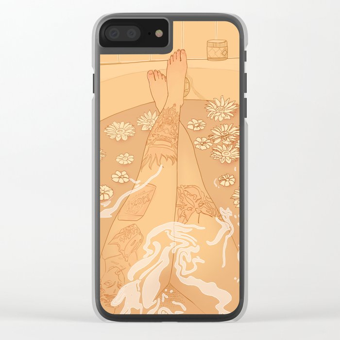 Flower Bath 10 (uncensored version) Clear iPhone Case