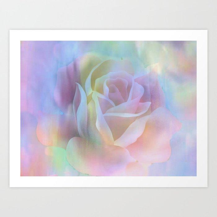 Pastel Watercolor Rose Art Print