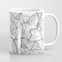 Moscow Map Line Coffee Mug