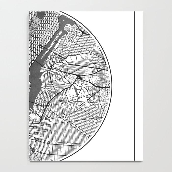 New York Map Universe Notebook
