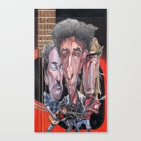springsteen Canvas Prints featuring Dylan, Springsteen, and Young by Alan Carlstrom