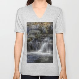 Calm Waters - Waterfall Unisex V-Neck