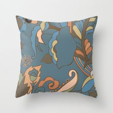 Modern Abstract Shapes Throw Pillow