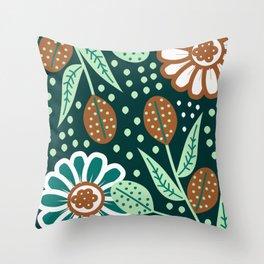 Floral wonderland Throw Pillow