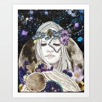 luna Art Prints featuring Luna by Jenndalyn