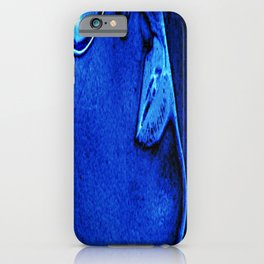 SUMMER BREEZING blue black white face mouth lips Angelis iPhone Case
