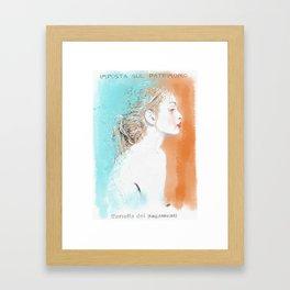 Non so Framed Art Print