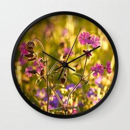 Summer Dream Wildflowers Meadow #decor #society6 Wall Clock