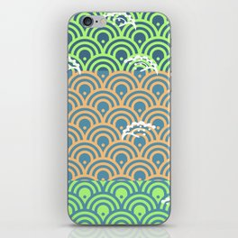 Catch the Seigaiha 2 (Green) iPhone Skin