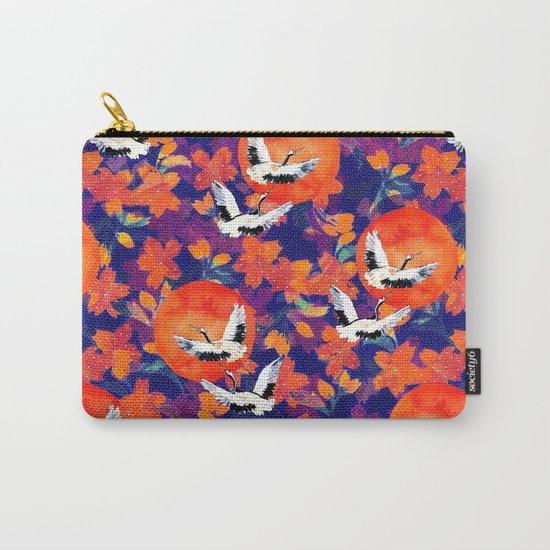 Japanese Garden: Cranes, Sun and Blossoms DK Carry-All Pouch