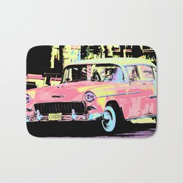 Cuban Classic Car Bath Mat