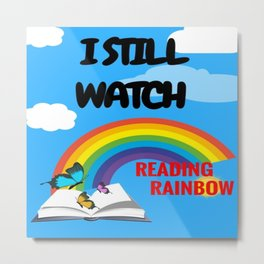 Reading Rainbow Metal Print