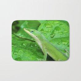 Mr. Lizard is Watching You Bath Mat