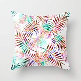 Daintree Paradise Rainbow Leaves Throw Pillow