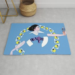 "Coles Phillips Magazine Illustration ""A Troublesome Toy"" Rug"