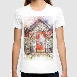Flowers Door Cottage T-shirt