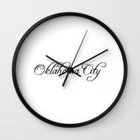oklahoma Wall Clocks featuring Oklahoma City by Blocks & Boroughs