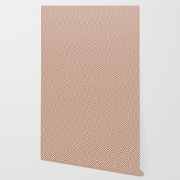 Cavern Clay SW 7701 and Creamy Off White SW7012 Hypnotic Stripe Pattern Wallpaper