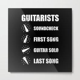 Guitar Amp Volume Control gift at the gig design Metal Print
