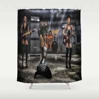 band Shower Curtains featuring Garage Band by gypsykissphotography