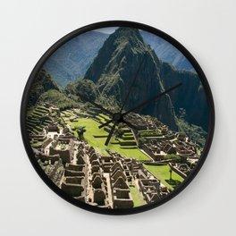 Machu hu Peru Wall Clock