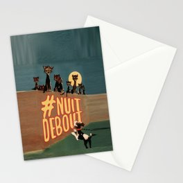 Nuit Debout Stationery Cards