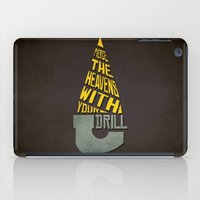 gurren lagann iPad Cases featuring Pierce The Heavens With Your Drill by 5eth