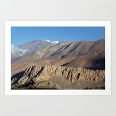 Scenery from Road to Jomsom Art Print