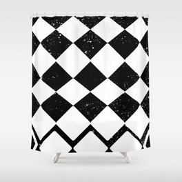 Night Stars and Checkerboards and Harlequins Shower Curtain