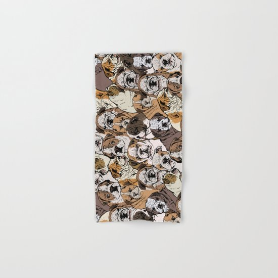 Social English Bulldog Hand & Bath Towel