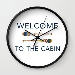 Welcome to the Cabin Paddles Wall Clock