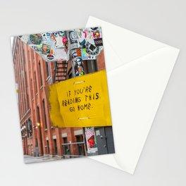 Go Home! Stationery Cards