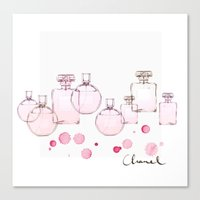 perfume Canvas Prints featuring Perfume by Illustra