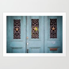THREE STAR DOOR Art Print