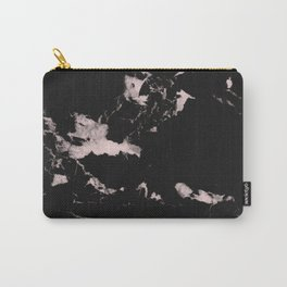 Black Marble and Blush Pink #1 #decor #art #society6 Carry-All Pouch