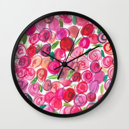 Rosie Pink Wall Clock