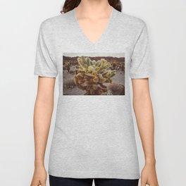 Cholla Cactus Garden XIV Unisex V-Neck
