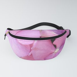 Close Up of Pink Hydrangea Blossom Fanny Pack