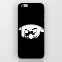 Half Tone Rock Band Poster iPhone Skin