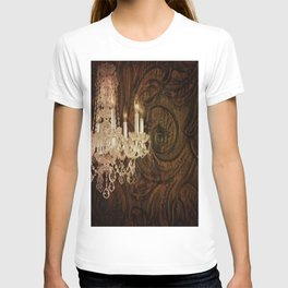 rustic western country leather texture crystal chandelier T-shirt