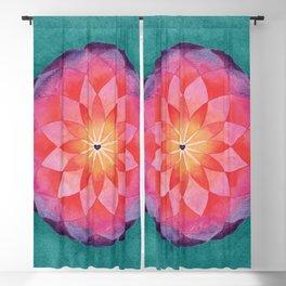 Watercolor Sacred Geometry Flower Mandala Blackout Curtain