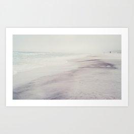 gray day at the beach 2 Art Print