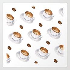 Cappuccino - diagonal Art Print