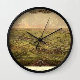 Map Of Lansing 1866 Wall Clock
